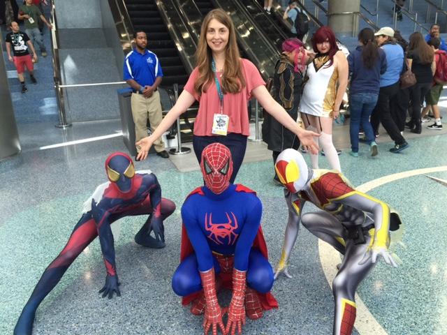 Ellen and Spiderman at the 2016 WonderCon