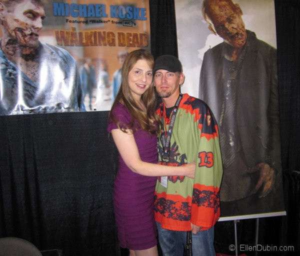 Ellen and Michael Koske - one of the walkers from the WALKING DEAD - he was also a guest at MEGACON