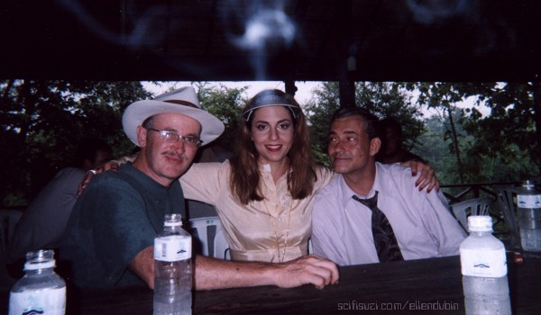 Paul Donovan – show creator of LEXX, Ellen Dubin as Pope and Rolf Kaneis as President at lunch in Thailand