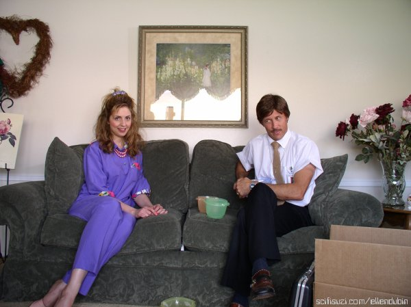 Ellen Dubin (Ilene) and Jon Gries (Uncle Rico)
