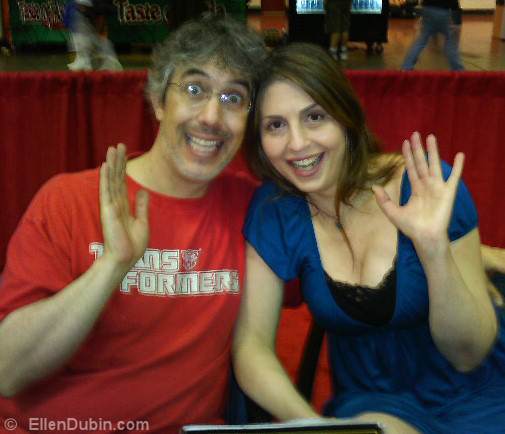 Neil Kaplan (voice over actor Tranformers, Power Rangers) and Ellen, having fun at Megacon