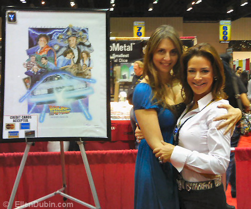 Ellen posing with Claudia Wells (Back to the Future)