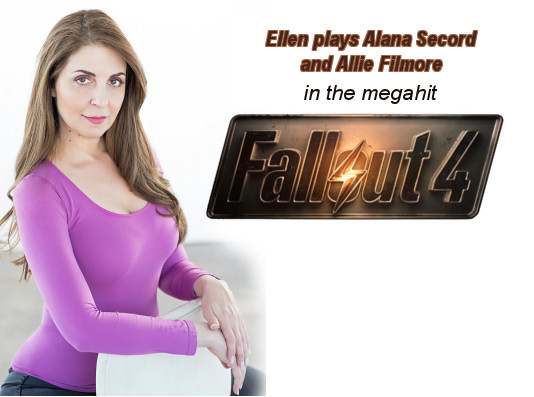 Ellen Dubin plays Alana Secord and Allie Filmore on Fallout 4