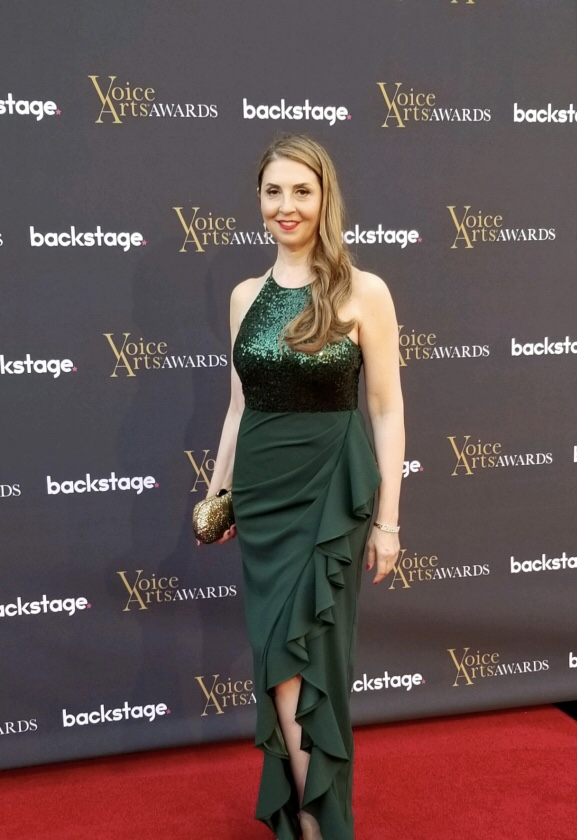 Ellen Dubin On the Red Carpet at the Voice Arts Awards, Warner Bros Studios Nominee for Outstanding Performance in an Animated TV Show - Adam Runs Everything
