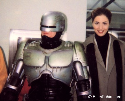 A candid shot on the Robocop set